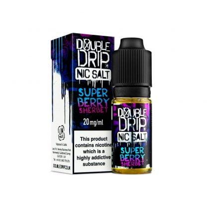 Double Drip Nic Salt 10ml 10mg/20mg (Super Berry Sherbet)