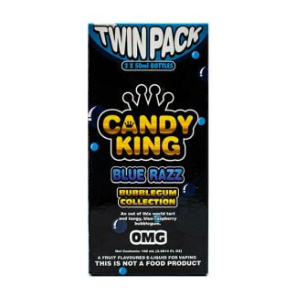 Candy King Bubblegum Collection Twin Pack - Blue Razz (2 x 50ml)